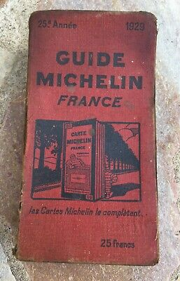 Guide Michelin Red 1929