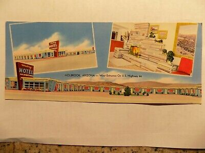 1957 Whiting Brothers motel Winslow AZ on Route 66 post card, only 1 when listed