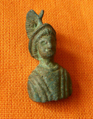 A52.Roman style bronze small bust of Mars