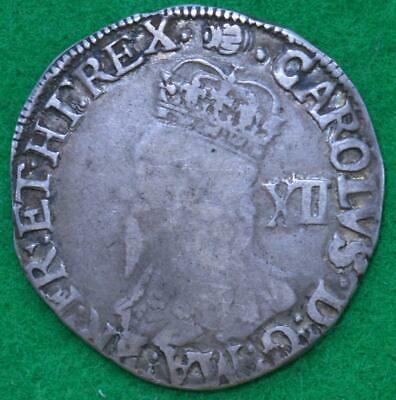 Charles I - Silver Shilling, Tower Mint initial mark tun - S:2791