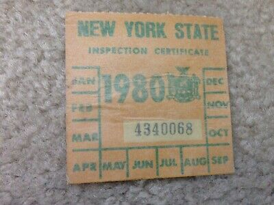 1 Vintage Nos 1988 Ny N Y S New York State Car Auto Safety