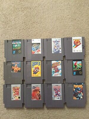 Lot Of 12 Nes Games For Nes System