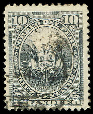 Scott # 116 - 1889 - ' Coat of Arms ' - Ovpt. Horseshoe and Triangle