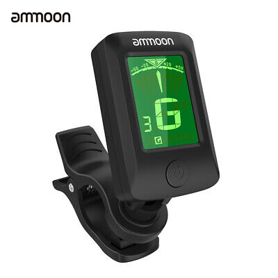 Digital Electronic Clip-On Tuner LCD Screen for Guitar Chromatic M1P9