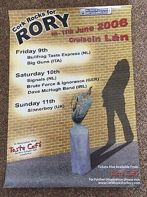 Rory Gallagher - Cork Rocks For Rory - June 2006 - A3 Promo Poster.