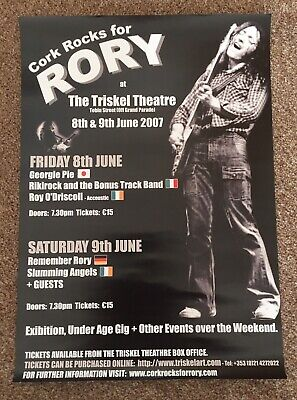 Rory Gallagher - Cork Rocks For Rory - Tribute Concert June 2007 - A3 Poster.