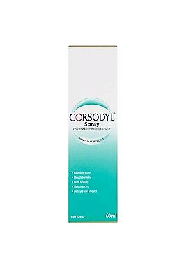 REDUCED  BUY 2GET  2 FREE Corsodyl Spray Mint Flavour 60 ml buy 1 will send 4