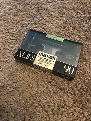 (1) MAXELL XL II-S High Bias Type 2 II Cassette Tape JAPAN SEALED 90 Minutes