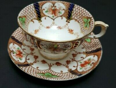 Vintage  Footed Atlas China Stoke On Trent Tea Cup And Saucer Imari Pattern