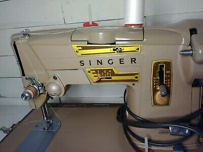 SINGER Sewing Machine- Vintage 1960's- Leather Case