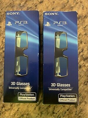 Sony PlayStation 3D Glasses PS3 3D - 1 NIB - Universally Compatible - Gaming (2)