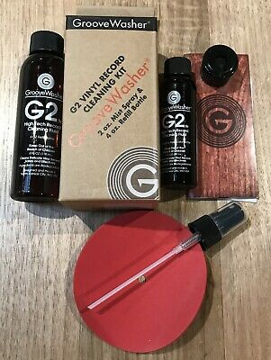Groovewasher G2 Record Vinyl LP Cleaning Fluid Kit - 2 oz Mist Spray & 4 oz Refi