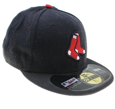 New Era 59Fifty Boston Red Sox MLB Flat Peak Fitted Cap - Size 7 5/8