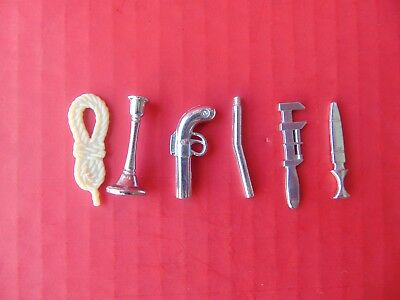 VTG 63 Clue Tokens ONLY Choose Gun Pipe Candlestick Wrench Rope Dice Parts Pcs