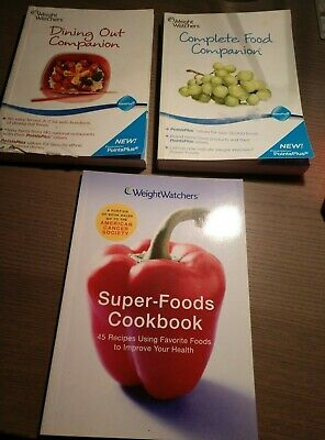 Weight Watchers Complete Companion, Dining Out Companion & Super-Foods Cookbook