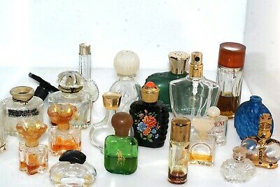 Large Lot of Miniature Perfume Bottles Vintage