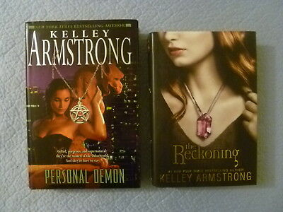 THE RECKONING DARKEST POWERS &  PERSONAL DEMON by KELLEY ARMSTRONG HCDJ 1st EDs