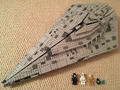 LEGO Star Wars First Order Star Destroyer 2017 75190 Snoke BB-9E Episode 8 1st
