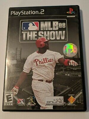 Mlb 08 The Show Sony Playstation 2 Ps2 Disc & Case Video Game Baseball 2008
