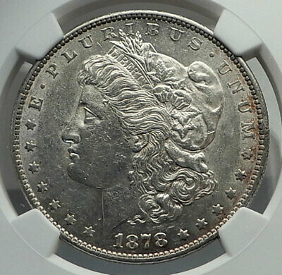 1878 UNITED STATES of America SILVER Morgan US Dollar Coin EAGLE NGC i79614