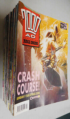 2000 AD 1990 lot of 52 comics from Prog 660 to 711 VF Judge Dredd Zenith Slaine