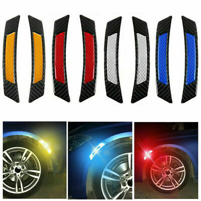 2Pcs/set Super Car Door Edge Guard Sticker Reflective Tape Safety Warning Decal