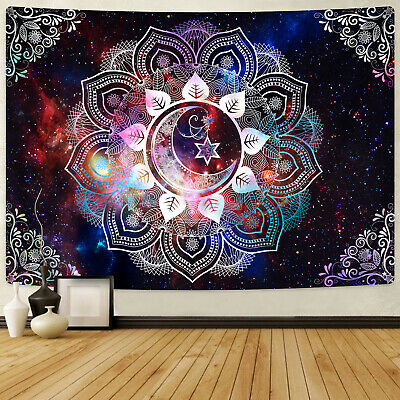 Psychedlic Mandala Print Tapestry Hippie Room Wall Hanging Throw Tapestry Decor