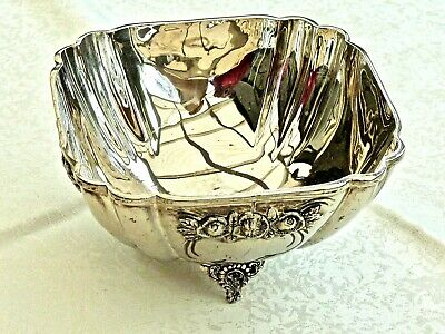Gorgeous Antique Art Nouveau  Handcrafted Silver Plated Footed Bon - Bon Dish