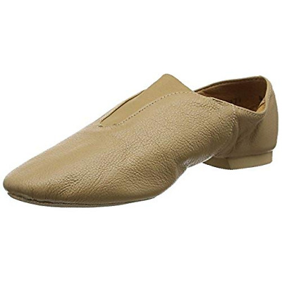 Caramel So Danca JZ77  leather split sole slip on  jazz dance shoes- UK child 13