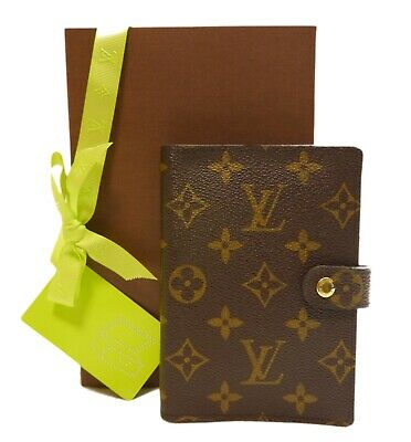 Authentic LOUIS VUITTON Agenda PM notebook cover PVC #6109
