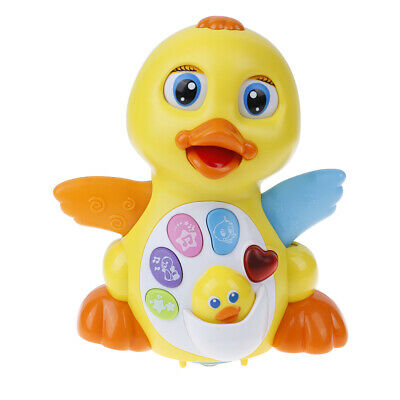 Baby toys flapping yellow duck infant electrical universal toy for children kidH