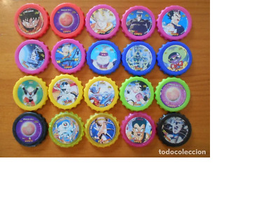 Lote 20 Dragon Ball Z Y Gt Chaps - Sin Repetidos - Cheetos - Tazos (7C)