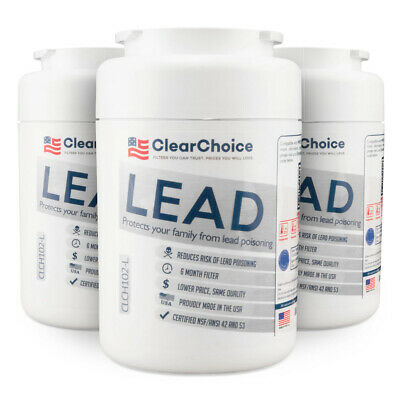 Clear Choice Lead Replacement Filter for GE, Kenmore, Amana MWF MWFP, 3-Pk