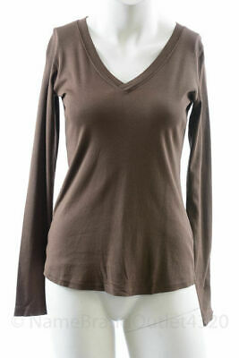 Michael Stars Maternity Ruby Red OSFA cross over vee L//S tshirt top NEW $63