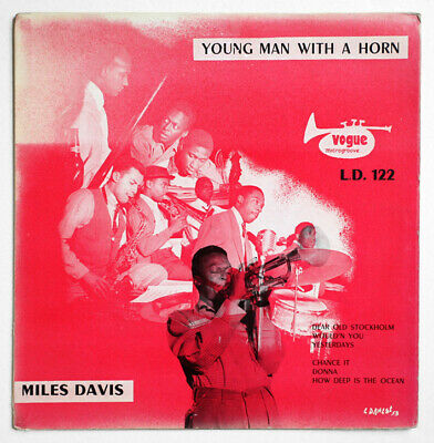 """MILES DAVIS Young mand with a horn french vogue LD 122 vinyl 25cm 10"""" FD LP"""