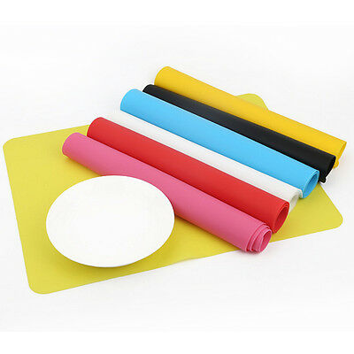 Rectangle 30*40cm Silicone Place Mats Heat Resistant Non Slip Table Mats~GN