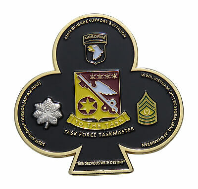 CHALLENGE COIN 426TH BRIGADE SUPPORT BN 10TH AIRBORNE DIVISION TASK MASTER LTC