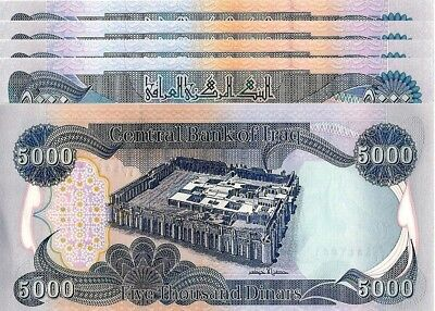 5 x 5000 IRAQI DINAR = 25000 of IRAQ CURRENCY - AUTHENTIC - FAST DELIVERY