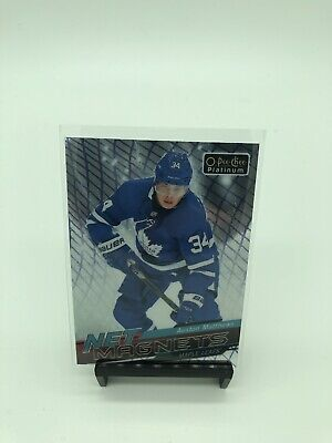 2018-19 OPC Platinum Auston Matthews Net Magnets #NM-15 Toronto Maple Leafs