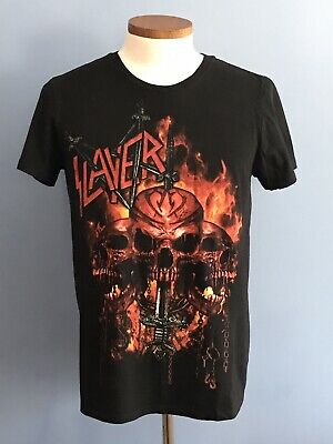 Slayer Skull and Sword Men's Medium T-Shirt Heavy Metal Rock Tee