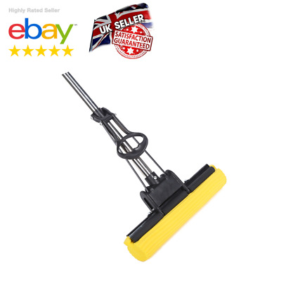 Super Sponge Mop Multi Surface Cleaner Stainless PVA Foam Head Replaceable Clean