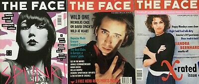 The Face Magazine  3 issues including Fashion Special 2000 Collectors Edition.