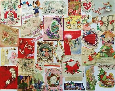 Mixed Paper Sampler Lot~Junk Journal Ephemera,Ads,Vtg Image Cuts More! 53 pc A