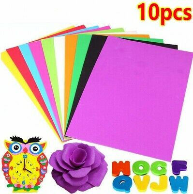10pcs A4 Foam Craft Sheets EVA Sponge Paper Hand Make Child DIY Craft Decoupage