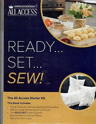 Anita Goodesign ALL ACCESS READY SET SEW! The All Access Starter Kit Free Ship