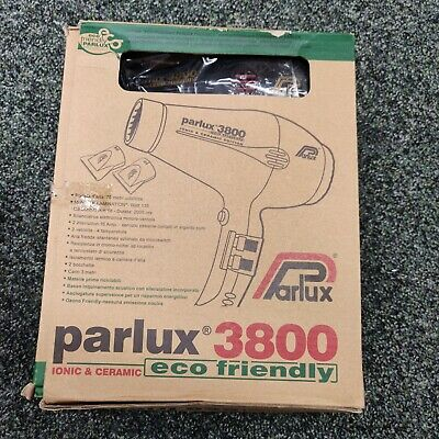 PARLUX 3800 - Eco Friendly - Ionic And Ceramic Hair Dryer - BLACK
