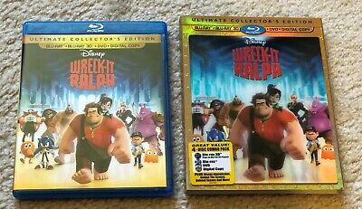 Disney Wreck-It Ralph Ultimate Collector's Edition 3D Blu-Ray Lenticular Used