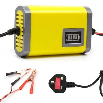 Intelligent LED 12V Motorcycle Motorbike Battery Charger Automatic Smart Trickle