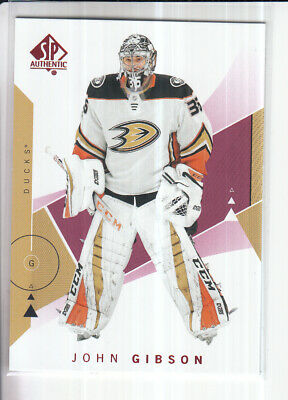 18/19 Ud Sp Authentic John Gibson Red Base Parallel #22
