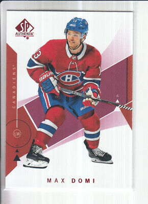 18/19 Ud Sp Authentic Max Domi Red Base Parallel #44